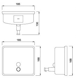 Curve Surface-Mounted Soap Dispenser